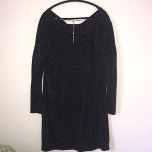 Michael Kors Long Sleeve Black Metallic Dress
